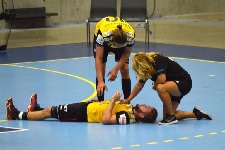 Johannes Sandgren får den otacksamma rollen att spegla HIF Karlskronas andra halvlek i träningsförlusten borta mot OV Helsingborg. Det gick med andra ord inget vidare för det gulsvarta laget.