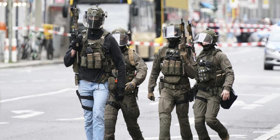 Insatsstyrkan SEK deltog i razziorna. Bilden är från ett tidigare tillfälle, i Berlin i december.