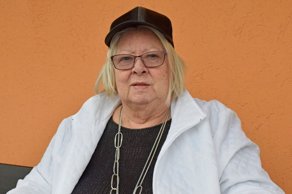 """""""It works well"""",, says Alice Östberg about the help she gets with her shopping.  She can use the mobility service if she goes to the health centre or the hospital."""