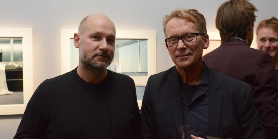 """Patric Leo, grafisk formgivare för den nya boken """"Lars Tunbjörk - retrospektiv"""" samt med i juryn för Lars Tunbjörkspriset. Här tillsammans med jurykollegan Roger Turesson, fotograf på DN."""