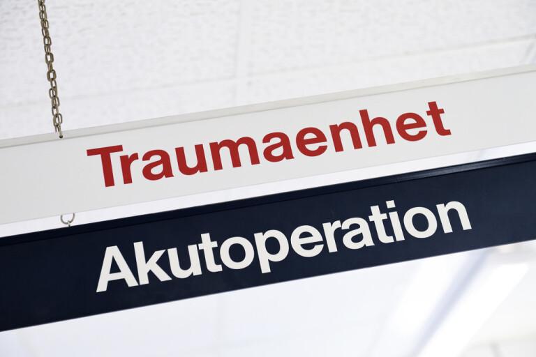 Traumaenheten på Karolinska universitetssjukhuset i Solna tar emot allt fler skottskadade patienter. Arkivbild.