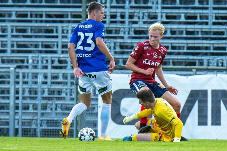 TFF:s nummer 23, Fredrik Liverstam, i matchen i lördags mot Örgryte.