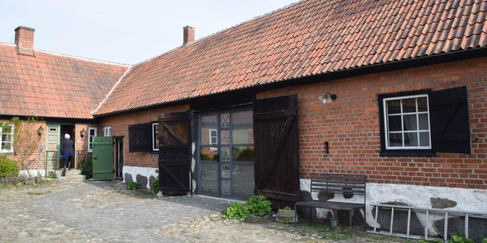Café vid Skillinge kapell.