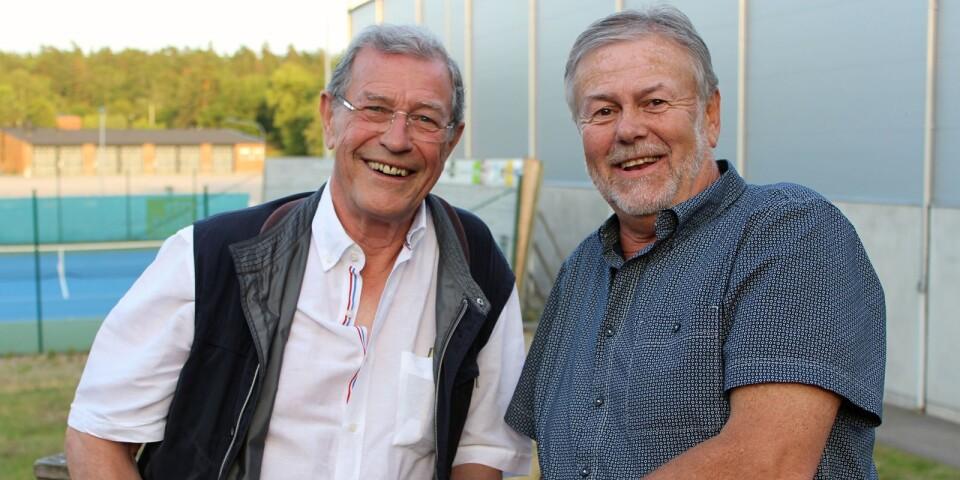 """Wolfgang """"Opa"""" Morsch och Tomas Hallström har hängt med i tennisutbytet mellan Karlskrona TK och TC Grün-Weiss Nicolassee ända sedan 1967."""