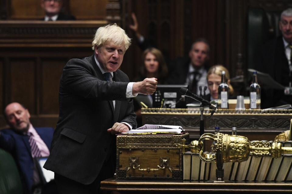 Storbritanniens premiärminister Boris Johnson räknar med stöd i parlamentet för sin brexitlinje, inklusive ett lagförslag som kringgår fjolårets utträdesavtal med EU. Arkivbild.