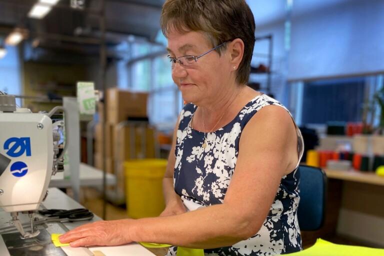 Sirpa har jobbat i 50 år på Tranemo Textil