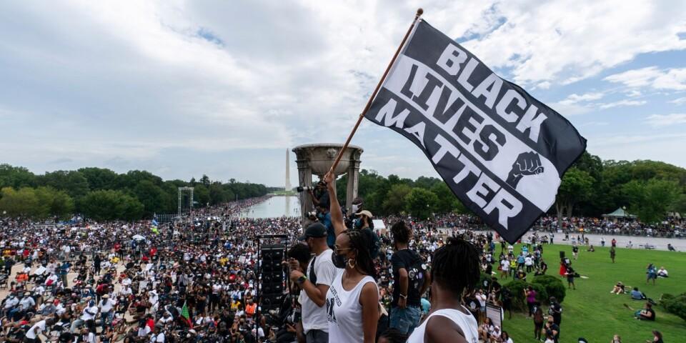 En av många Black lives matter-protester från i somras. Här från huvudstaden i USA, Washington, i slutet av augusti.