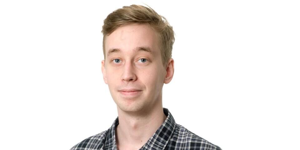 Victor Malm under tiden när han medverkade som skribent på Kristianstadsbladet.