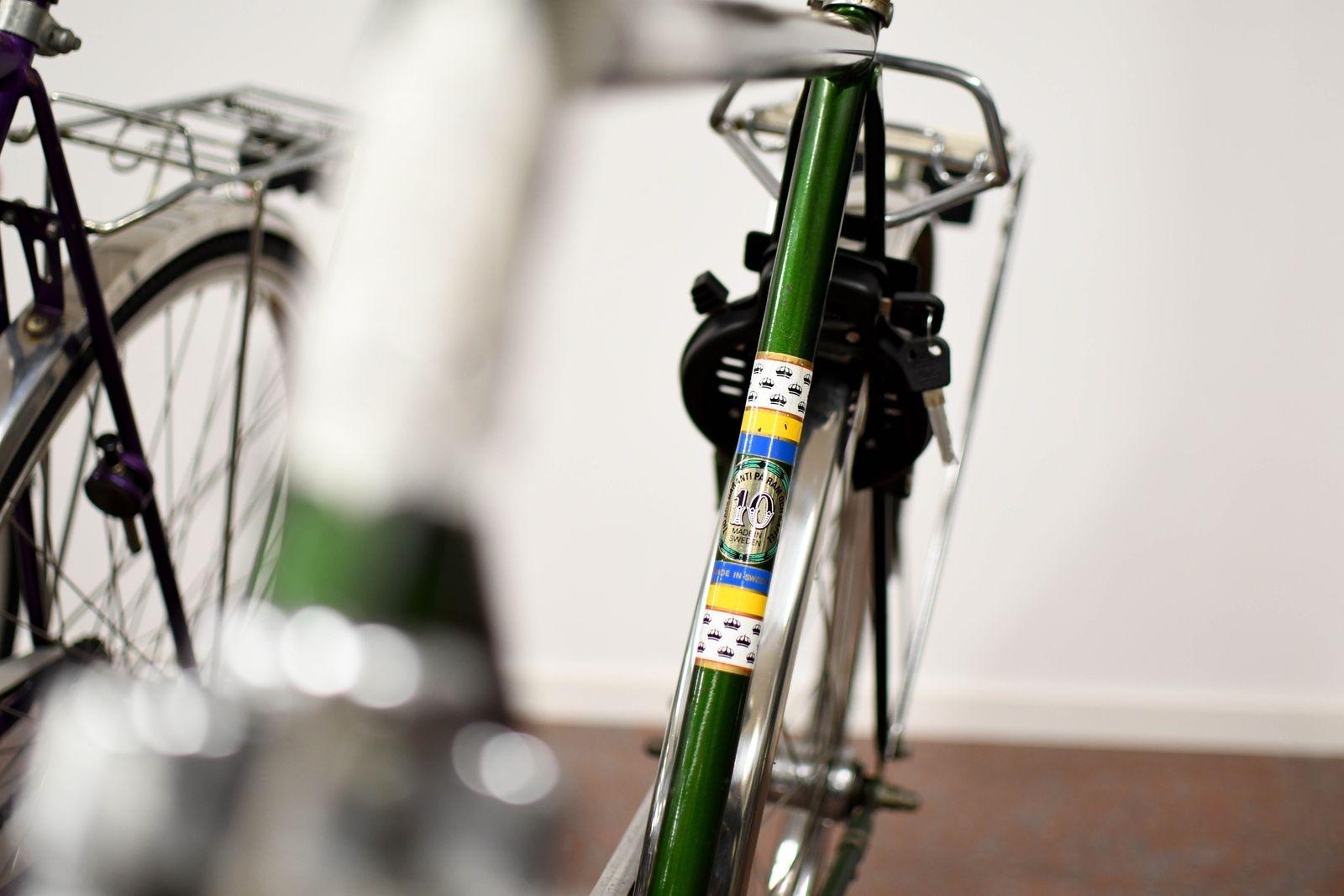 Hos Österlens cykel erbjuds sprillans nytt men även begagnat i toppskick, som den här gamla Monarken.