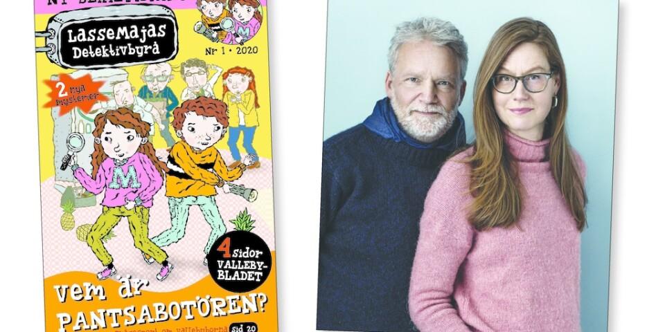 Lassemajas detektivbyrå blir serietidning av författarna Martin Widmark och Helena Willis. Pressbild.