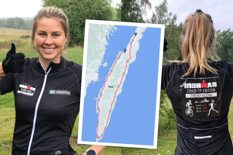 Efter två inställda tävlingar – nu kör hon en egen Ironman