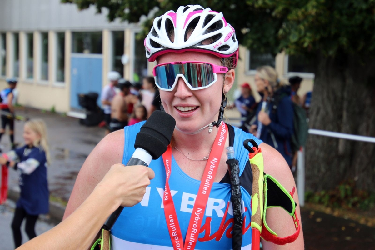 Vinnaren Olivia Hansson var minst sagt glad över segern.