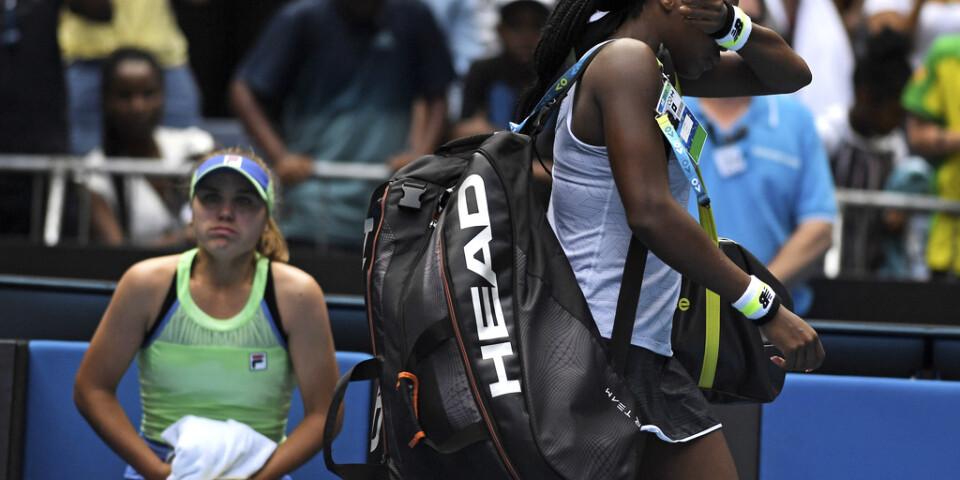 Coco Gauff åkte ur Australian Open i den fjärde omgången.