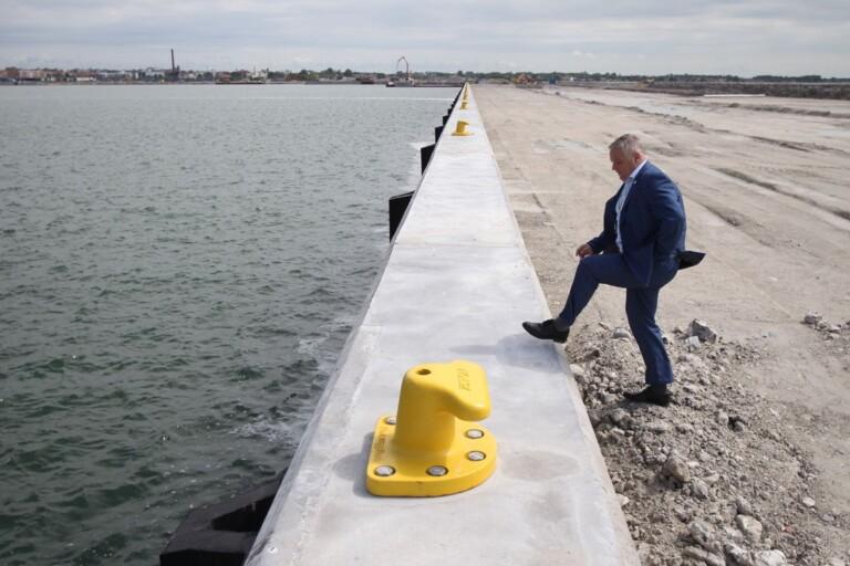 Hav blir till land när hamnen bygger nytt