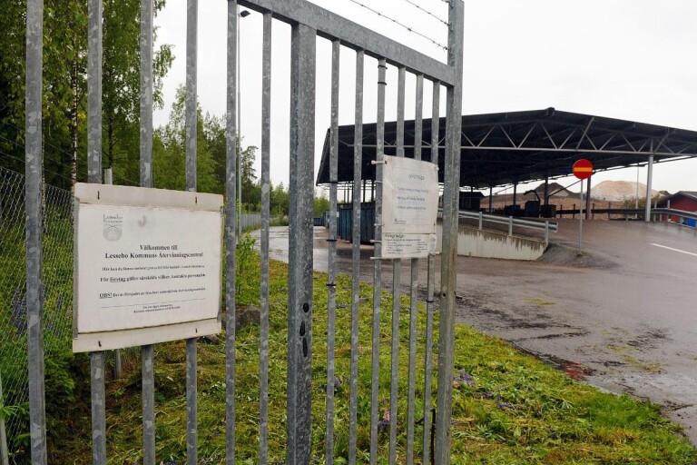 Lämnade in frätande syra - del av anläggning fick stängas