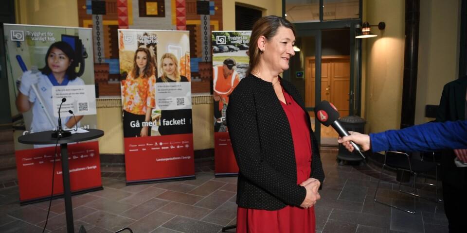 LO-ordföranden Susanna Gideonsson tog inte chansen.