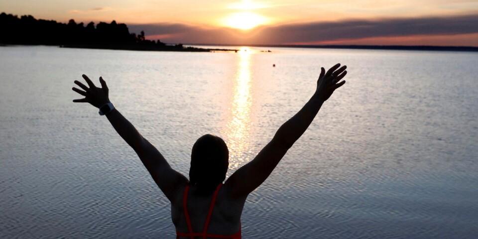 Näst sista veckan i juli kommer Anna Lagergren från Kalmar att gå i mål med sin badstreak som hon började med i april.