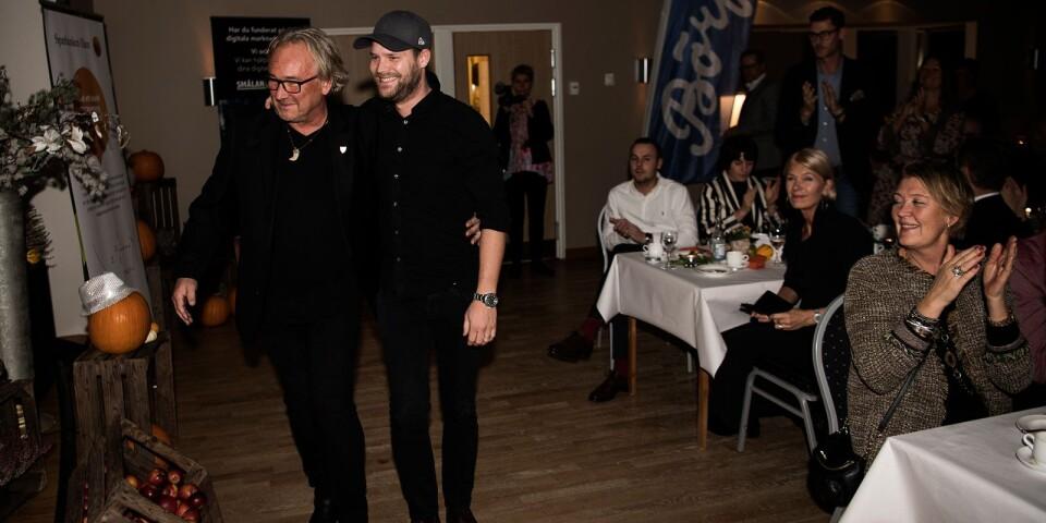 Populära pristagare. Årets företagare i Tingsryd, Daniel Hylse och Magnus Lundin på AMB.