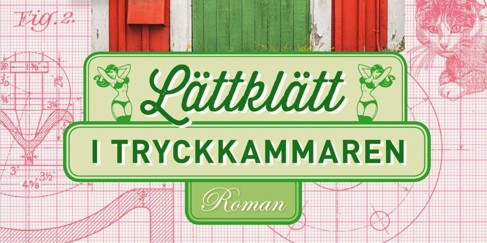 """Den 8 september gav Karin Brunk Holmqvist ut en ny bok; """"Lättklätt i tryckkammaren"""". Bilden är ett utsnitt från omslaget."""