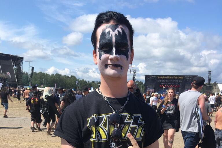 Alvin Ståhl har lyssnat på Kiss hela livet. På fredagen fick han se dem live.
