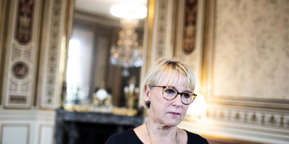 Den tidigare utrikesministern Margot Wallström (S) KU-anmäls av Vänsterpartiet. Arkivbild.