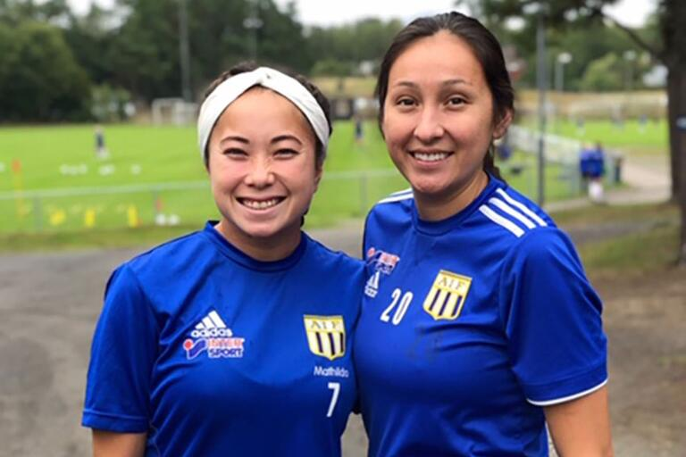 Sonest Furtado och Marissa Favela tränade med Asarums IF för första gången under tisdagskvällen. Förhoppningsvis hinner de bli spelklara till helgens match mot AIK.