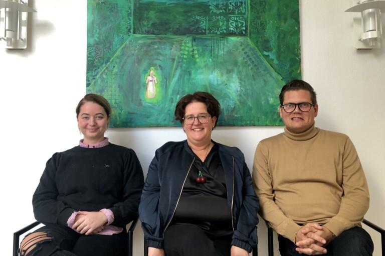 Johanna Wyckman (L), Karin Helmersson (C) och Jonas Hellberg (S) i Länsunionen presenterar kultursatsningar i sin budget.