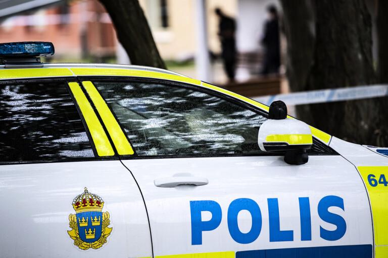 Flera polispatruller letar efter en försvunnen pojke i Kalmar. Arkivbild.