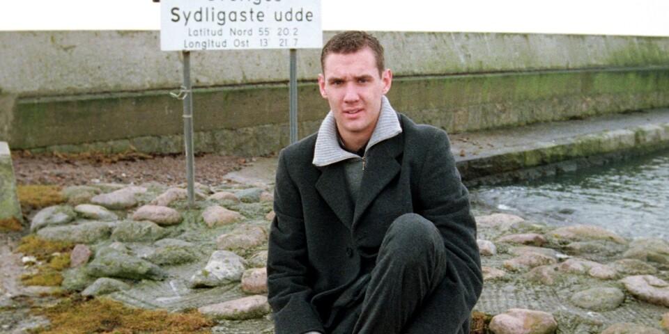 Andreas Isaksson porträtterades i hemmamiljö i Smygehuk 1999.
