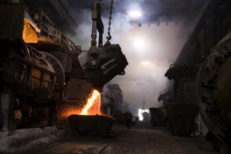 Fabriksanläggningen Norilsk Nickel i Ryssland. Arkivbild.
